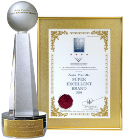 "The ""BEYOND"" Brand won the 4th Asia Pacific Super Excellent Brand 2008 Award for its superiority and popularity."